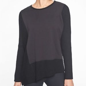 Athleta Black Bayridge Asymetrical Sweater Sz M